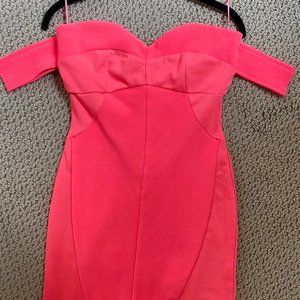 TOBI Hot Pink Strapless Bodycon Dress Size M